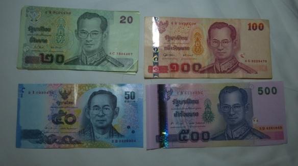 Rama lX is featured on Thai money.