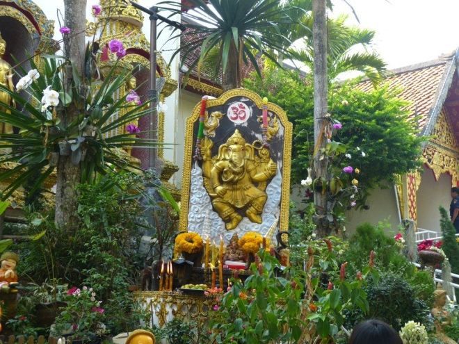 Ganesha, son of Shiva and Parvati, at Wat Prathap Doi Suthep in Chiang Mai