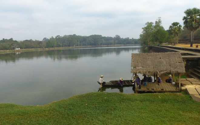 Another view of the moat