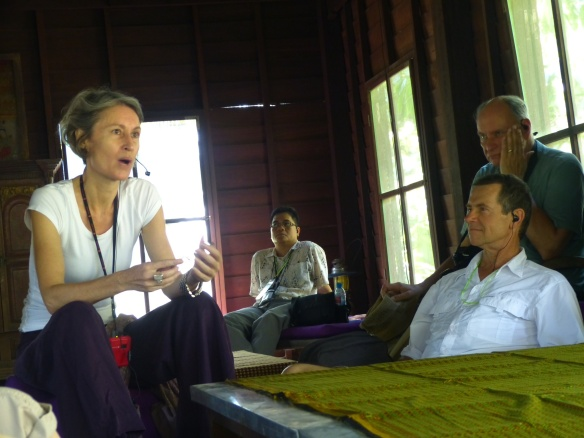 We had an amazing lunch at Fabian's stilt home in a  Laotian village, followed by a lecture.