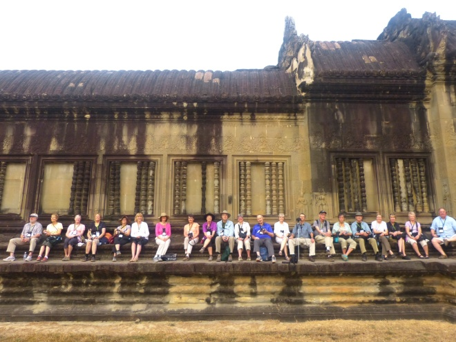 Our wonderful guide made sure we had front row seats for the Angkor Wat sunrise