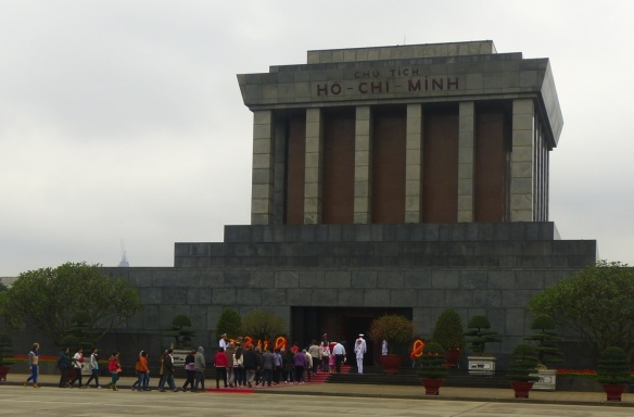Ho Chi Minh's embalmed body lies in this mausoleum.