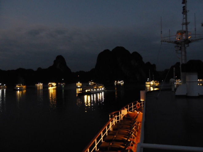 How lucky were we, to see night fall on Halong Bay