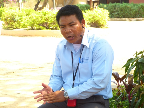 Sarin, a Cambodian tour guide, and head of the Spitler School
