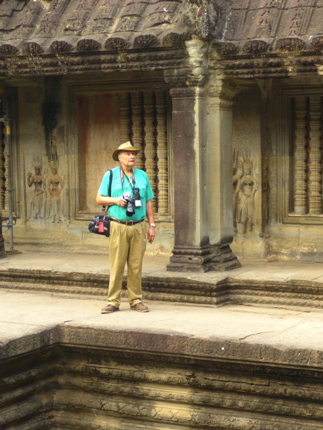 Mike, taking in the majesty of Angkor Wat