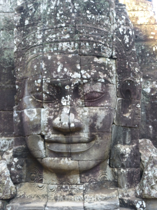 One of the many faces of King  Jayavarman 7