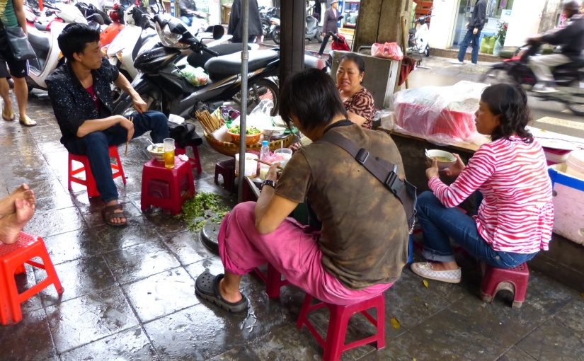 Sidewalks of Hanoi
