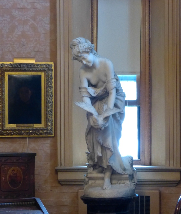 Statue in the library reading room
