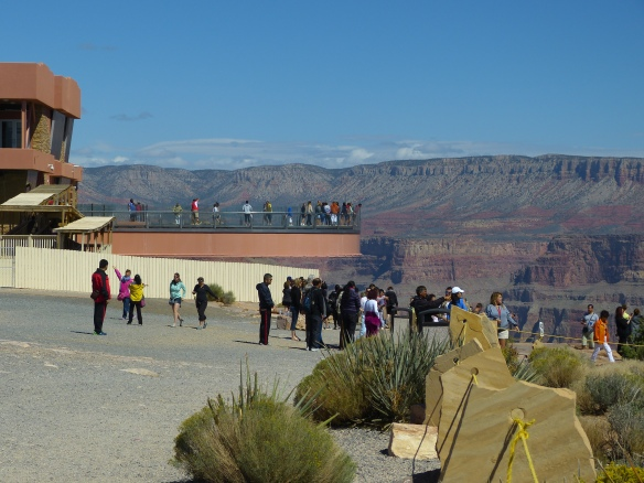 View of the Sky Walk from the rim