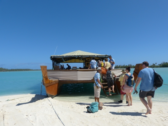 Our vessel -- and did you notice that beautiful white sand?