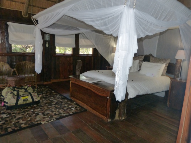 How fantastic is this room?  We have a private deck overlooking the river.