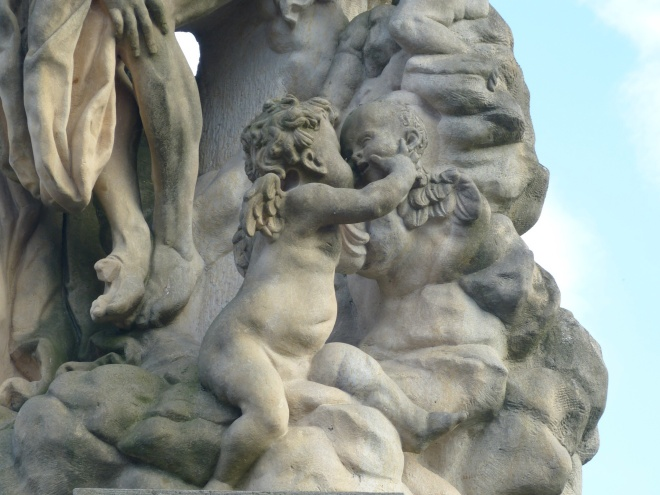 The details in the statues are intriguing.