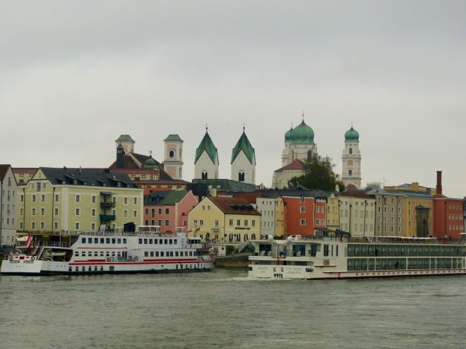 A view of Passau from the river.