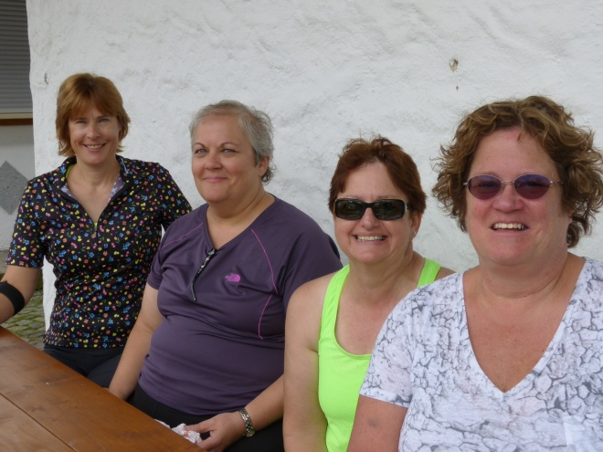 Our new Midwestern friends: Jessie, Marcia, Karla, and Mary