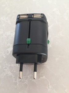 USB slots , with the C adapter extended.