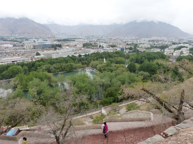 The view from the top of the Potala