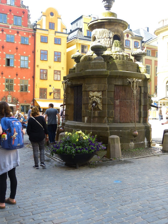 In this square, Swedish leaders were beheaded by the Danes.  The son of one of the victims escaped, led a successful revolution and became Sweden's first king.