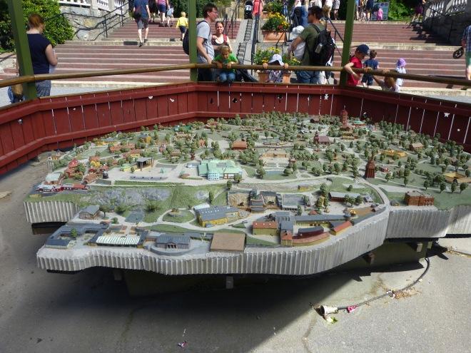 A model of Skansen